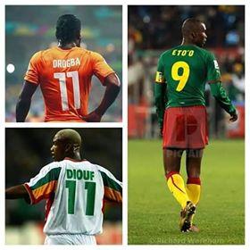 photo de Drogba , Eto'o et Diouf