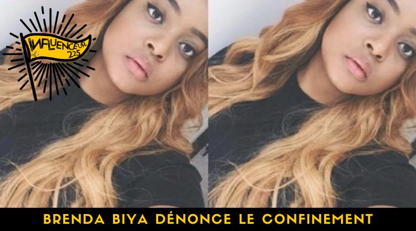 Brenda Biya dénonce le confinement