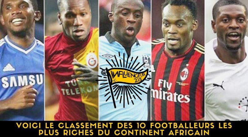 Top 10 des footballeurs africains les plus riches en 2020