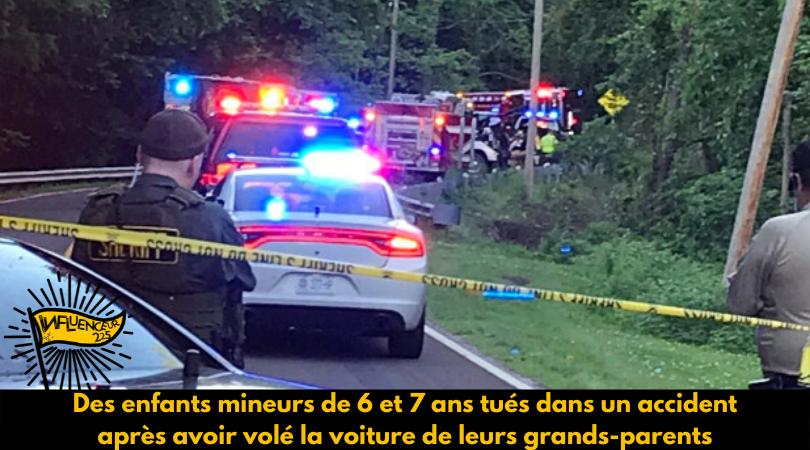 Deux enfants volent le véhicule de leurs grands parents et meurent dans un accident