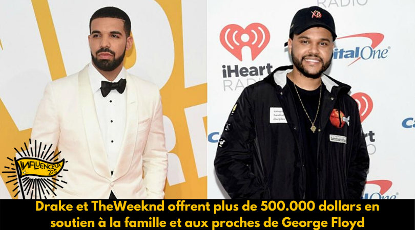 Black Lives Matter: Drake et The Weeknd offrent plus de 500.000 dollars aux manifestants